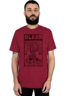 Camiseta Bleed American Cactus Vinho