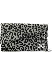 Dolce & Gabbana Clutch Com Estampa Leopardo - Metálico