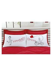Fronha Emoções Bicicleta - 02 Peças Enxovais Aquarela