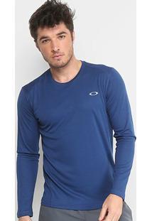 Camiseta Oakley Daily Sport 2.0 Manga Longa Masculina - Masculino-Azul Escuro