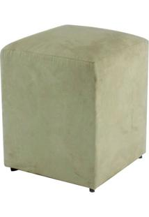 Puff Quadrado Box Suede Bege