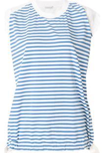 Moncler Blusa Com Contraste - Azul