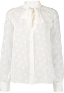 Dolce & Gabbana Polka Dots Blouse - Branco