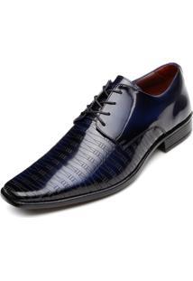 Sapato Pro Mais Masculino 0357 Co Verniz-Laser Dark Blue