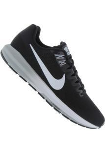 Tênis Nike Zoom Structure 21 - Masculino - Preto/Branco