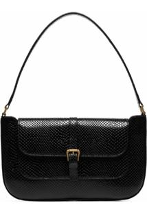 By Far Miranda Snake-Effect Leather Shoulder Bag - Preto