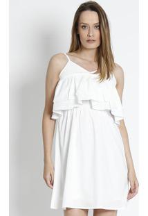 e397de1a8e ... Vestido Com Babados- Off White- Susan Zhengsusan Zheng