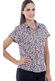 Camisete Love Poetry Floral Azul