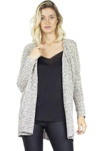 Cardigan De Tricot The Style Box - Mescla Bege