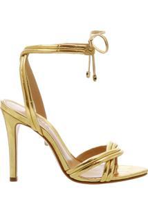 Sandália Lace-Up Golden   Schutz