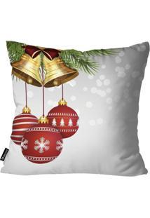 Capa Para Almofada Mdecor D Natal Sino Branco