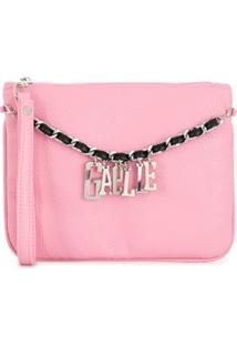 Gaelle Paris Kids Logo Chain Clutch Bag - Rosa