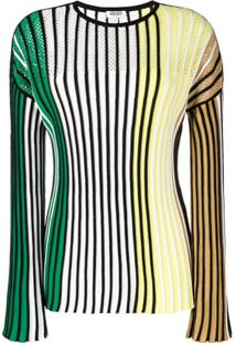 Kenzo Striped Knitted Top - Amarelo