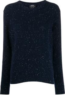 A.P.C. Suéter De Tricô - Azul