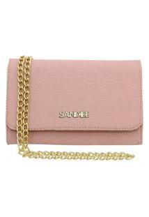 Bolsa Clutch Pequena Sandiee Oficial Rosa