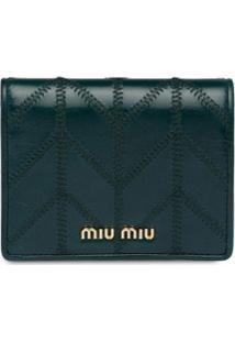 Miu Miu Carteira Com Placa De Logo - Azul