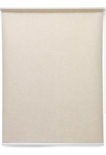 Persiana Soft Rolô L140Xa160 Cm Controle De Luminosidade Por Acionamento Manual E Antialérgica Linho Bege - Evolux