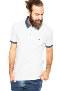 Camisa Polo Forum Bord Off-White
