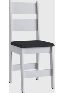 Cadeira Mdf Milano Par Branco Móveis Canção