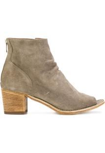 Officine Creative Ankle Boot De Camurça Com Abertura Frontal - Neutro
