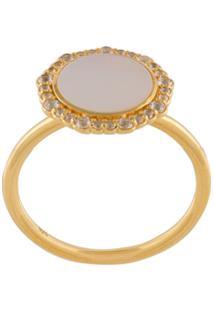 Astley Clarke Anel 'Luna' Banhado A Ouro 18K - Metálico