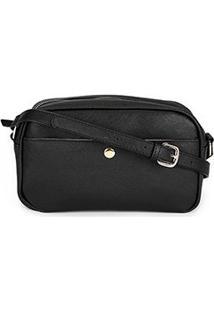 Bolsa Shoestock Mini Bag Crossbody Lily Feminina - Feminino-Preto