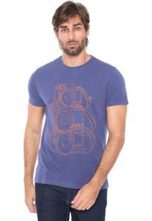 Camiseta Aramis Fotográfica Azul