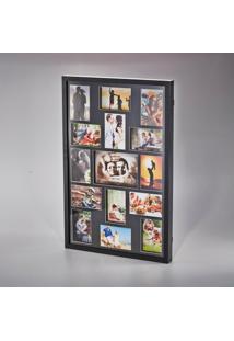 Painel Collection Para 14 Fotos 10X15 E 1 Foto 15X21 Preto 73X48,5X4Cm - Unissex