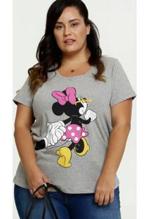 Blusa Feminina Estampa Minnie Plus Size Disney