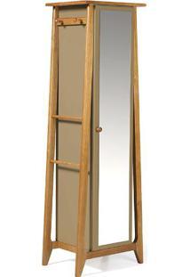 Armário Multiuso Stoka 1 Porta Com Espelho Nogal/Marrom Médio Maxima