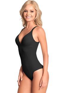 Body Modelador Sem Bojo Em Cetinete Feminino