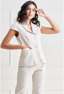 Colete Mx Fashion Sarja Piquet Pierre Areia - Kanui