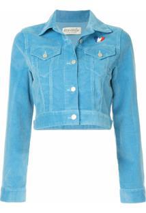 Être Cécile Cropped Corduroy Jacket - Azul