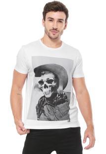 Camiseta Ellus 2Nd Floor Skull Branca