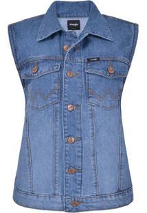 Colete Jeans Feminina Urbano Retro - Wf7550
