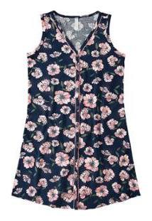 Camisola Floral Malwee Liberta Malwee Liberta - Feminino-Azul+Marinho