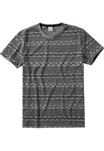 Camiseta Slim Geométrica Malwee