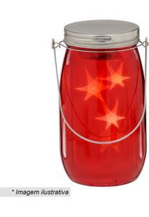 Garrafa Decorativa Com Luz- Vermelha & Prateada- 20Xmabruk