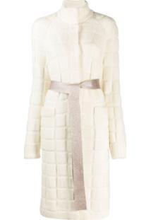 Missoni Quilted Knit Cardi-Coat - Branco