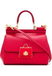 Dolce & Gabbana Small Sicily Tote Bag - Vermelho