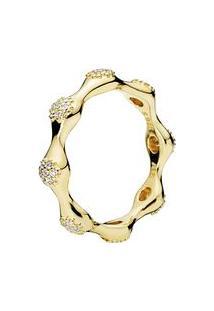Anel Love Pods- Dourado- Tamanho 60 = 20- Pandorpandora