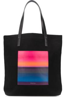 Ps Paul Smith Bolsa Tiracolo Horizon Com Listras - Preto