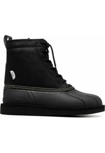 Suicoke Ankle Boot Alal Com Cadarço - Preto