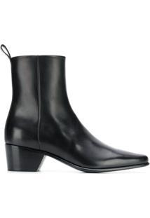 Pierre Hardy Ankle Boot De Couro - Preto