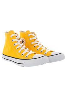 Tênis Converse All Star Chuck Taylor Cano Alto Amarelo
