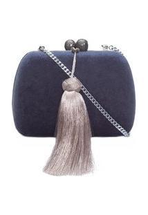 Bolsa Clutch Grey - Azul