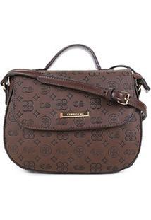 Bolsa Chenson Mini Bag Estampada Feminina - Feminino-Café