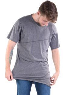 Camiseta Gang Assimétrica Recortes Eco-Friendly Cinza
