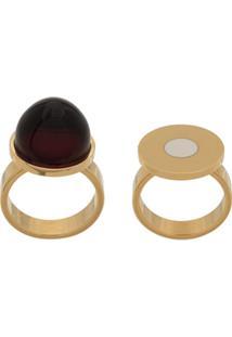 Marni Conjunto De Anéis 'Cherry' - Dourado