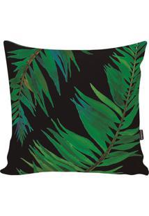 Capa De Almofada Blackgreen Foliage- Preta & Verde- Stm Home